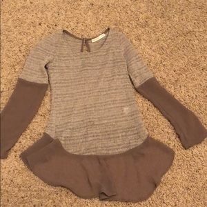 Lightweight sweater with sheer arms and trim